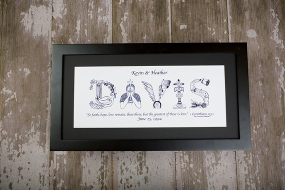 ... frame; Personalized Christian Gifts; Anniversary Gifts; Wedding Gifts