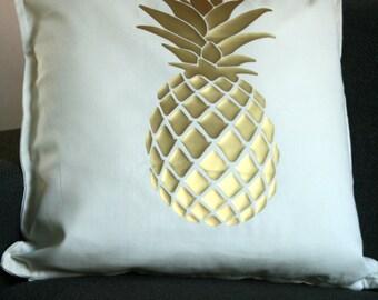 """Pillowcover - Golden Pineapple - 20""""x20"""""""