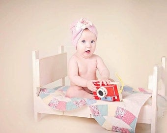 Newborn Baby Photography Prop Bed Antique White