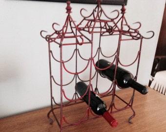 Chinoiserie Metal Wine Rack