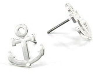 Petite Anchor Stud Earrings