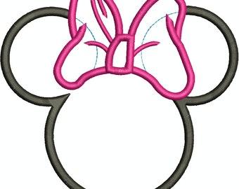 Minnie Mouse Heads Applique