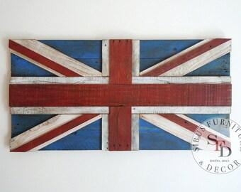 Pallet Flag - UK Reclaimed Pallet Flag - Wall Art - 3D - United Kingdom - Union Jack