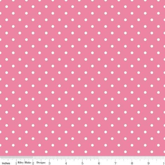 swiss dot on hot pink yardage by riley blake designs c670 70 hotpink