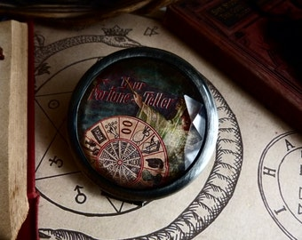 The fortune teller gypsy mirror compact with velvet bag