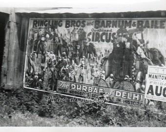 Ringling Brothers Circus Poster ~ Vintage Snapshot Photo