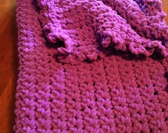Large and Cozy Blanket: Plum Purple