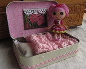 Mini Lalaloopsy Doll Bed in a Mint Tin with Jewel Sparkles