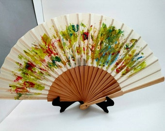 Fan hand-painted, handmade spanish fan