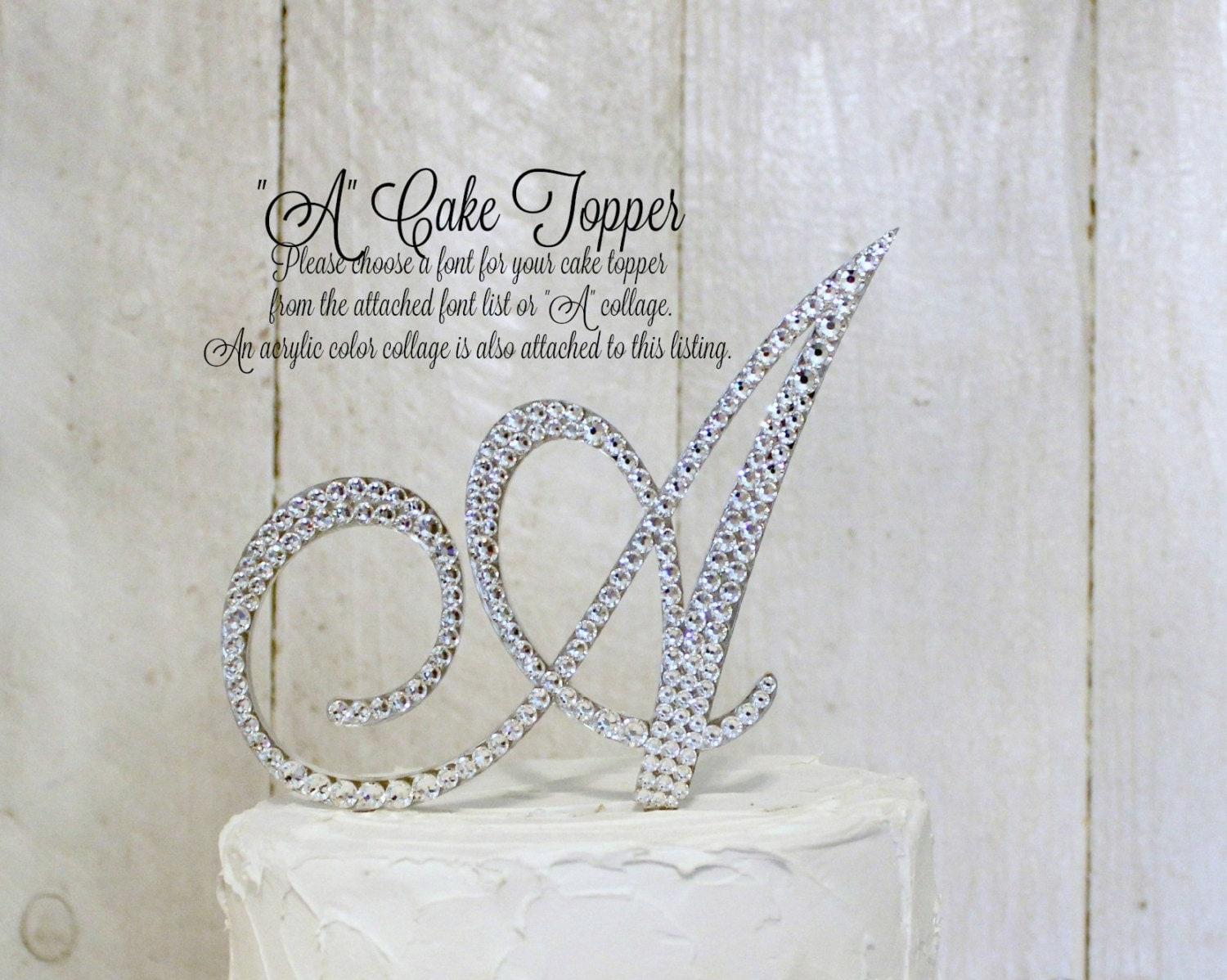 Letter A Wedding Cake Topper Gold A Cake Topper Bling A Cake