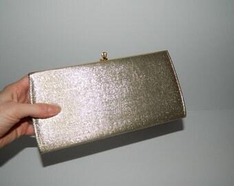 Vintage Soft Golden Evening Bag