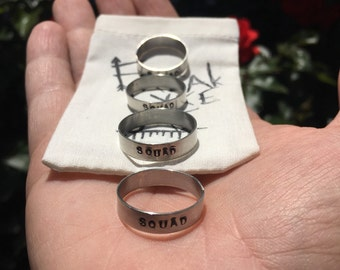 Freaky Little Personalized Stamped Ring in Sterling Silver
