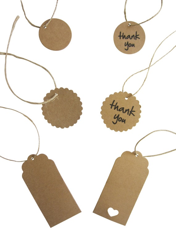 Wedding Favor Tags Australia : 50 Brown Kraft Gift Tags Party DIY Wedding Favours Gift Rustic Twine ...