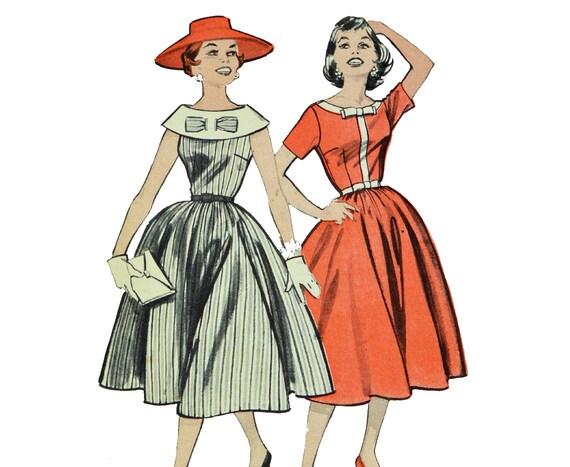 Vintage 50s Dress Patterns 1950s Full Skirt Pattern