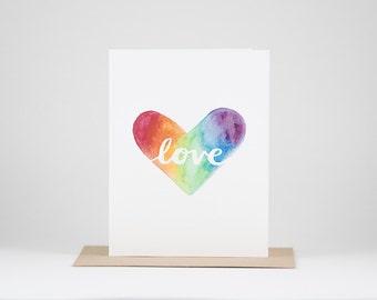 Love in a Rainbow Heart. Pride Edition.