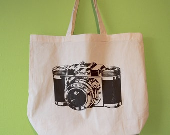 Vintage Camera Natural Cotton Tote Bag/Maxi Bag