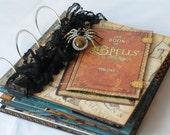 """Halloween Mini Album, """"Book of Spells"""" Album, Graphic 45, Steampunk Spells"""
