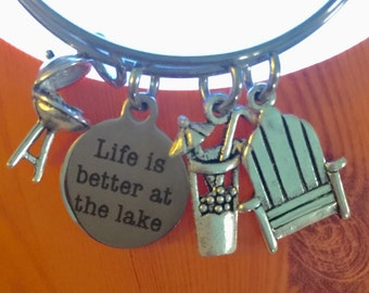 Life is better at the lake bangle
