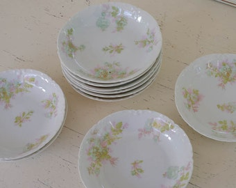 Haviland Berry Bowls Set of 10 The Bretagne Limoges Made in France