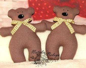 Tilda Bears. Set of 2 pcs. Handmade.