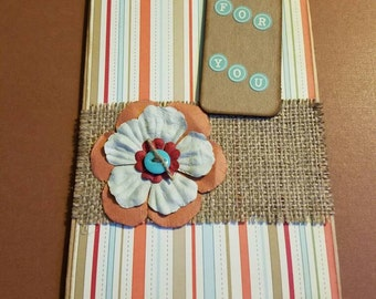 Rustic gift bag with gift tag