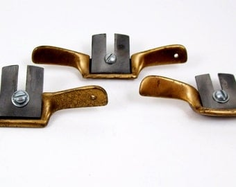 Set of 3 Vintage Miniature Brass Planes for Musical Instruments Violin Tool