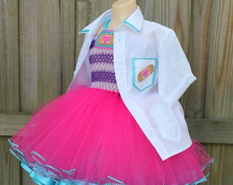 Doctor tutu dress/ Doc mcstuffins tutu/ Halloween costume/ doc mcstuffins tutu dress/ doc mcstuffins costume/ tutu costume