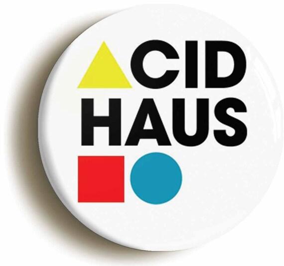 Acid haus retro eighties acid house rave badge by for Acid house raves 1980s