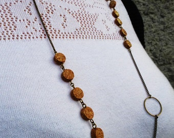 """necklace made of upcycled cork """"Pastilles"""""""