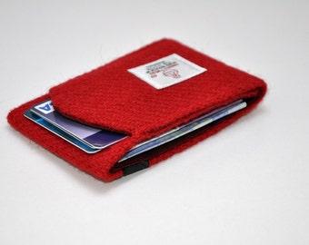 HARRIS TWEED small card holder / wallet - 2 pockets minimal