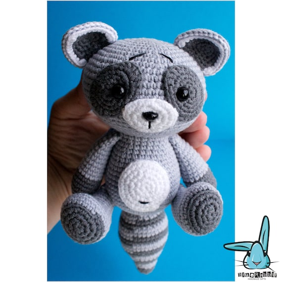 Amigurumi Free Pattern Italiano : Baby raccoon amigurumi crochet pattern pdf file by
