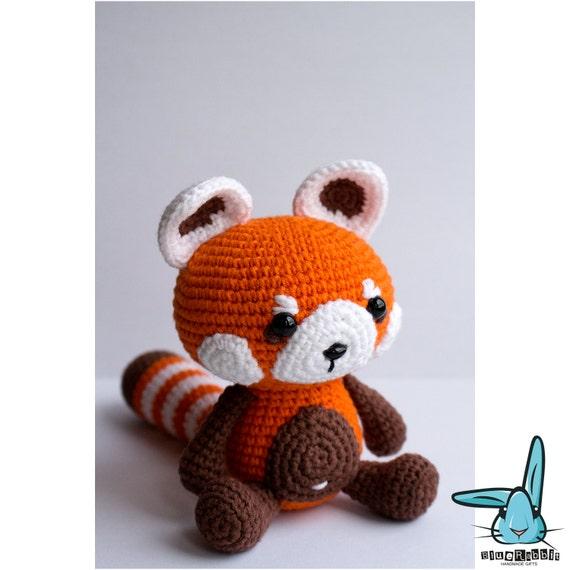Amigurumi Free Patterns Pokemon : Red panda - amigurumi crochet pattern. PDF file. DIY ...