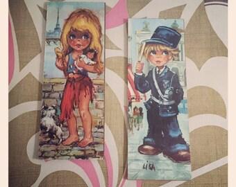 2 x Big Eye - print on board - Lisa and Pitzie
