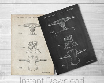 Skateboard Trucks Printables, Skateboard Decor, Skate Art, Vintage Skateboard PP0385