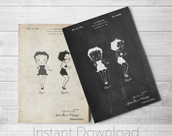 Cartoon Printables, Paramount Pictures, Vintage Movie Poster, Cartoon Portrait,  PP0547