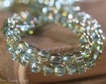 BACK IN STOCK! Spring Melons (50) - Czech Glass Bead - 5mm - Melon