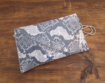 Snake-embossed Leather Purse / FREE SHIPPING