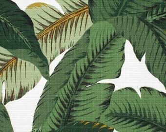 SHIPS FAST Tommy Bahama Swaying Palms LINEN Indoor Home Decor Fabric, Banana Leaf Fabric Dark Green Leaves Upholstery Drapery Fabric Yardage