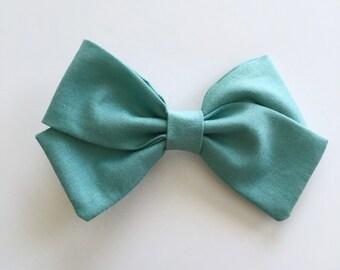 Teal Bow...Headband...Baby Gift