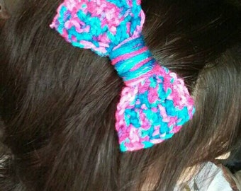 Crochet Bow Clips, any color