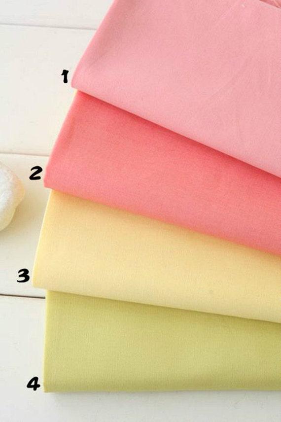 Pastel Solid Color Plain Cotton Fabric Colorful Cotton