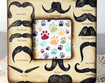 Mustcaches and Names Picture Frame