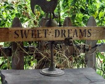 Handmade Sign / Sweet Dreams Rustic Sign / Nursery Decor Sign / Rustic Pallet Sign / Large Sweet Dreams Sign