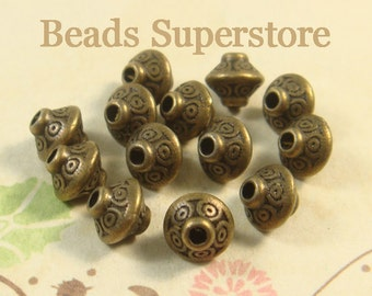 7 mm x 6 mm Antique Bronze Spacer Bead - Nickel Free, Lead Free and Cadmium Free - 20 pcs