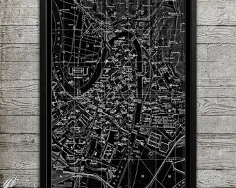 Map of VERONA ITALY Print, Wall Decor for your Home or Office