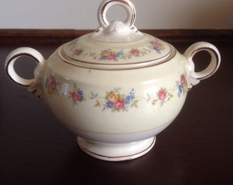 Crown Potteries Sugar Bowl with Lid
