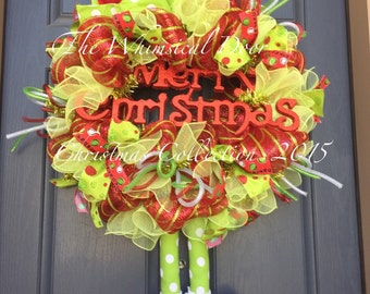 Elf Wreath Christmas Wreath Holiday Wreath