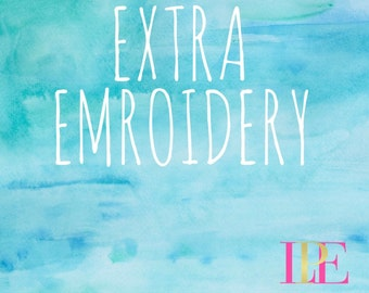 Extra Embroidery Add-On