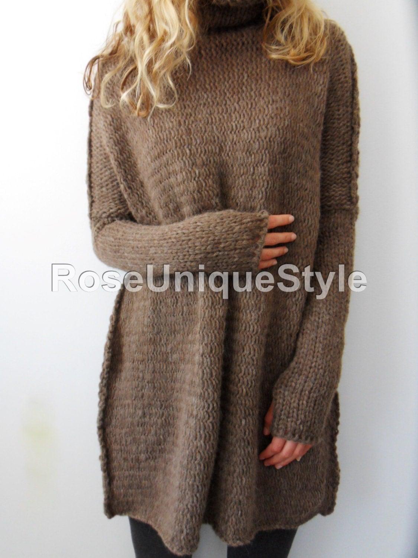 Oversized Chunky knit sweater. Slouchy / Bulky / Loose knit