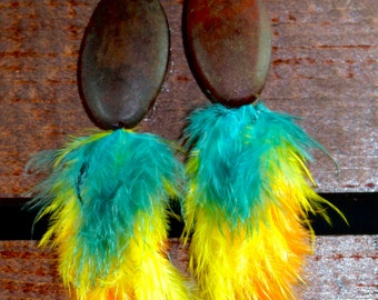 Feather Earrings, One of a Kind, #15